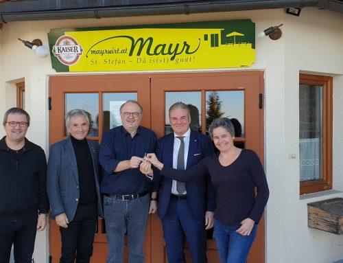 Schlüsselübergabe GH Mayr